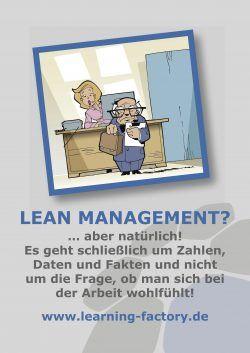 LeanAroundTheClock, es wird beispielhaft eine Plakat aus den Aufstellern dargestellt.